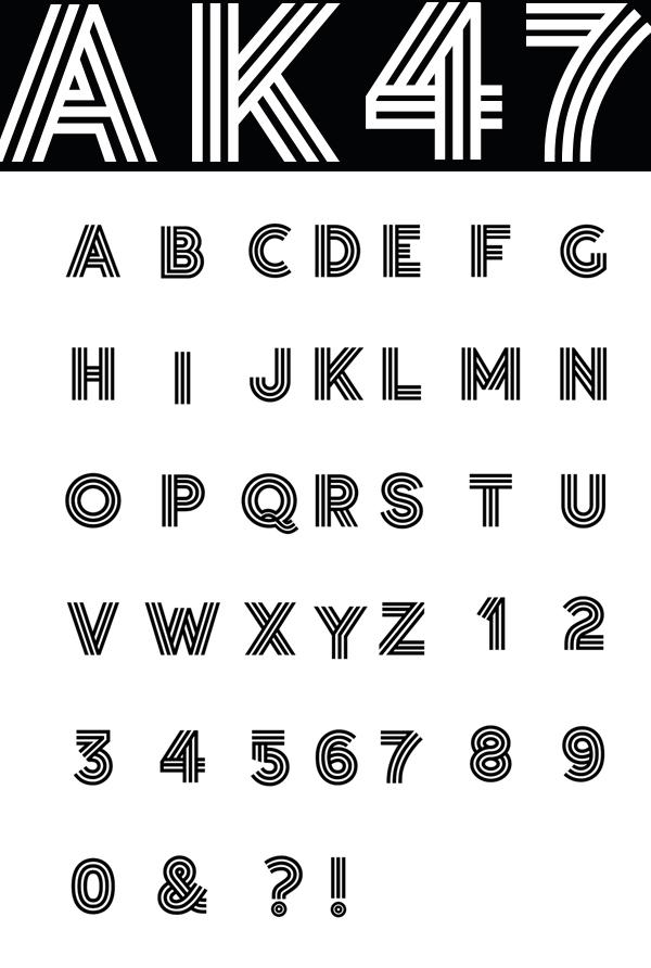 The Social Font Letters