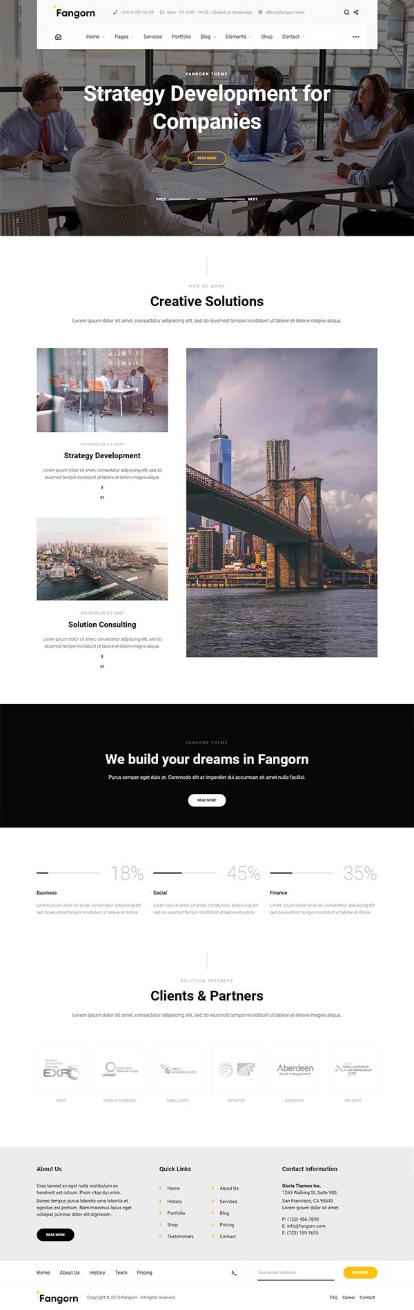 Fangorn - Business & Company WordPress Theme