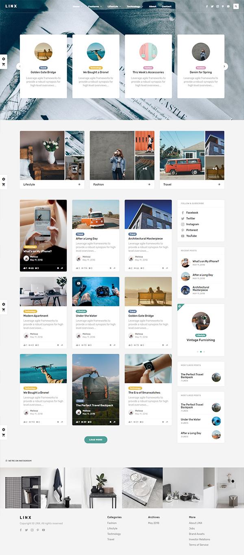 Linx - WordPress Blog & Magazine Theme