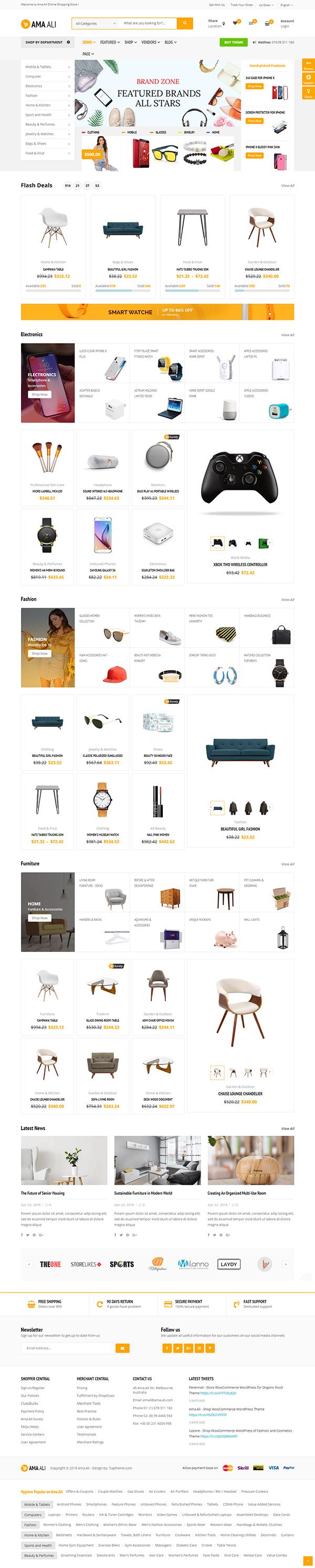 Ama.Ali - Shop WooCommerce WordPress Theme