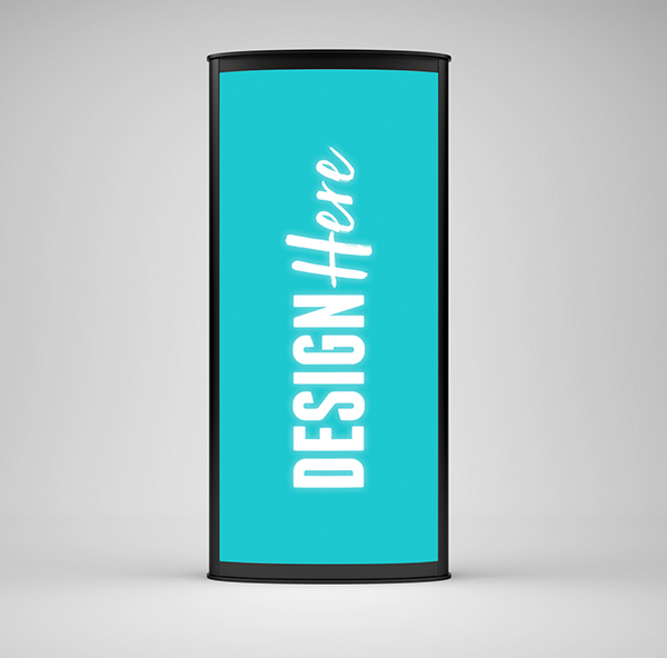 Free LightBox Banner Stand Mockup