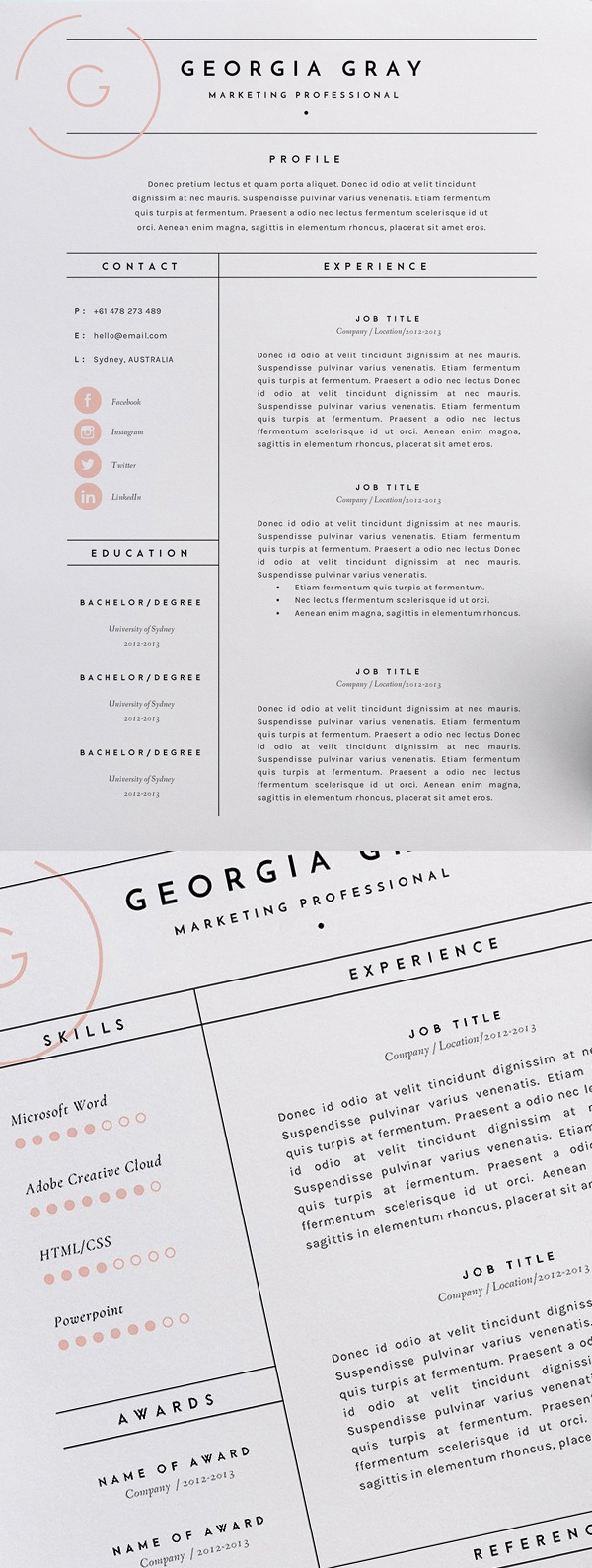 High - Quality Creative Resume Templates