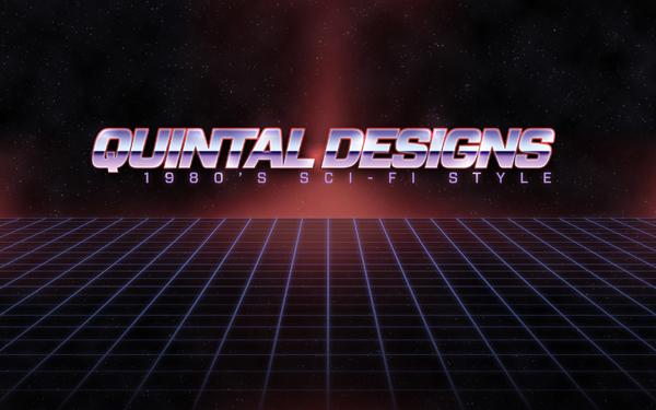 Retro 80's Sci-Fi logo in Photoshop