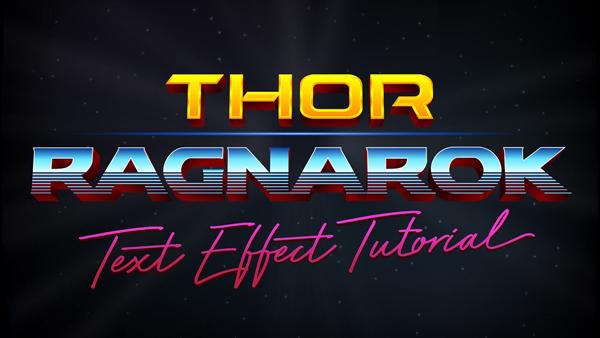 Thor: Ragnarok Logo Style Text Effect in Adobe Illustrator