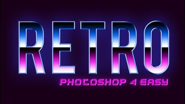Retro Text Effect Adobe Photoshop Tutorial