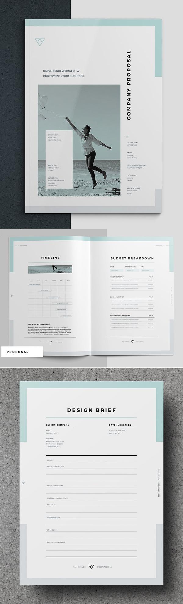 100 Professional Corporate Brochure Templates - 88