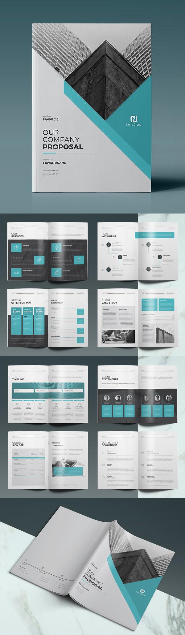 Professional Business Proposal Templates Design - 4