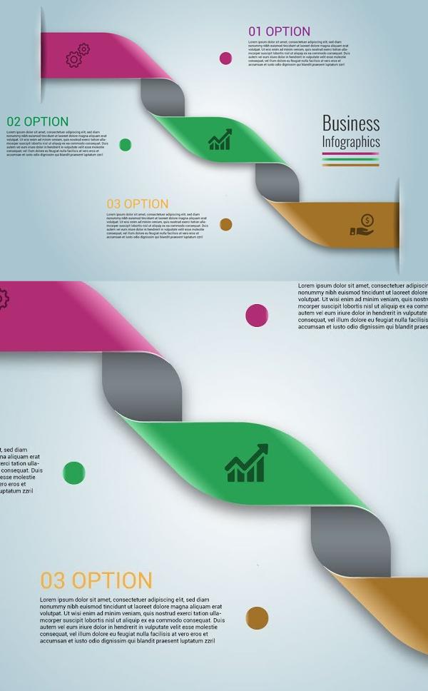 How to Create Ribbon Infographic - Adobe Illustrator Tutorial