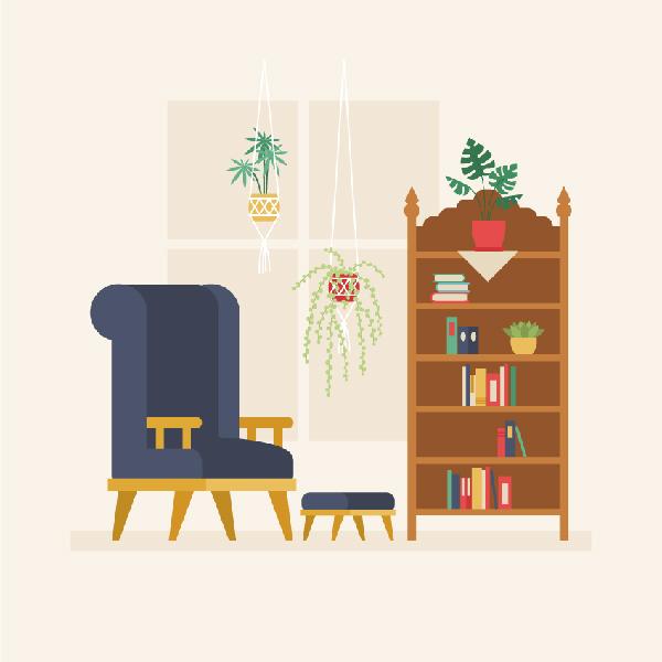 How to Create a Retro Interior in Adobe Illustrator