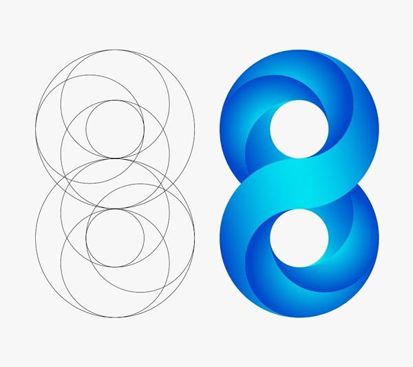 How to Creaet Swirling Infinite Logo Design in Illustrator Tutorial