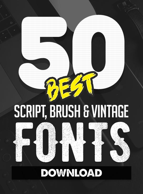 50 Best Handwritten Script, Brush & Vintage Fonts