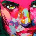 Post Thumbnail of Amazing Graffiti Portrait Painting by Francoise Nielly