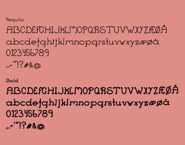 Ant Serif Font Letters
