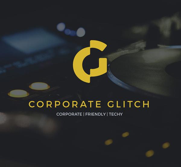 Corporate Glitch Free Font