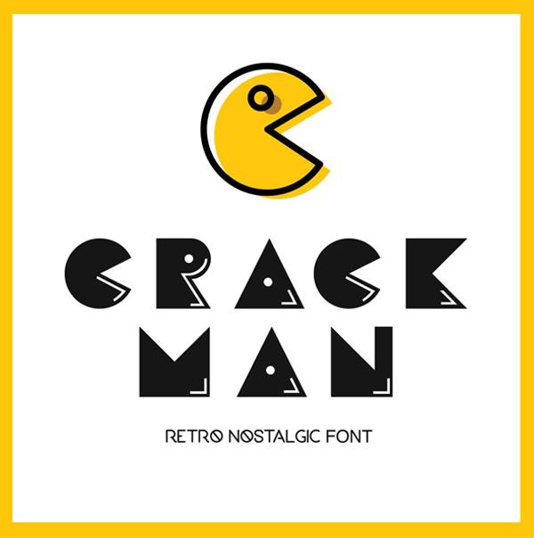 Crack Man Free Font