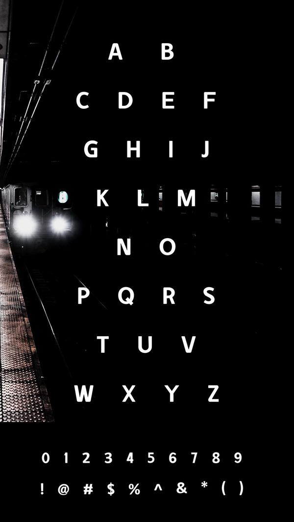 Dunnu Font Letters