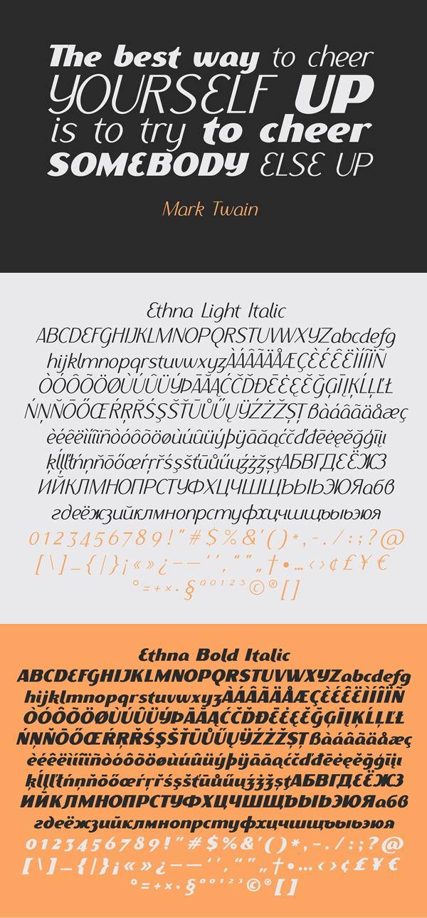 Ethna Font Letters
