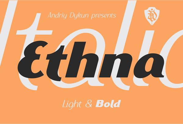 Ethna Free Font