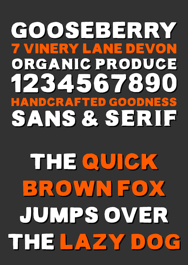 Lance Sans & Serif Font Letters