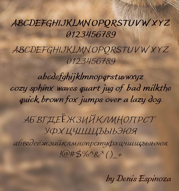 Leo Font Letters