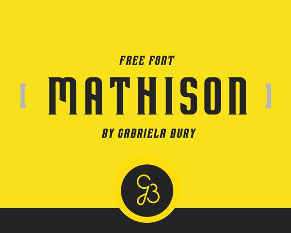 Mathison Free Font