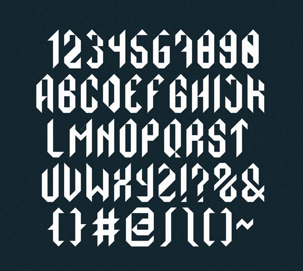 Monolith Font Letters