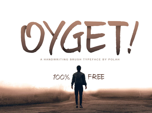 Oyget Free Font - 50 Best Free Brush Fonts