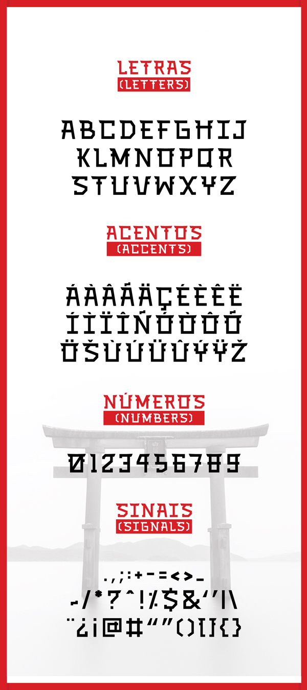TORII Font Letters