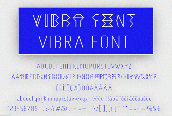 Vibra Type Font Letters