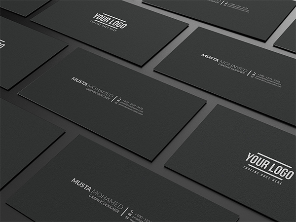 Clean Black Minimal Business Card