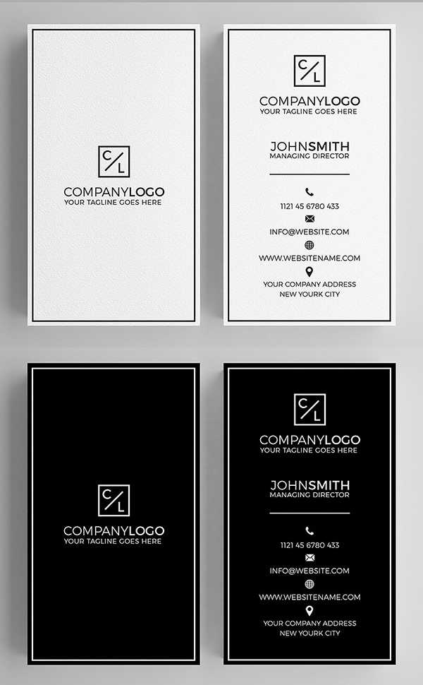 Minimal Modern Business Card