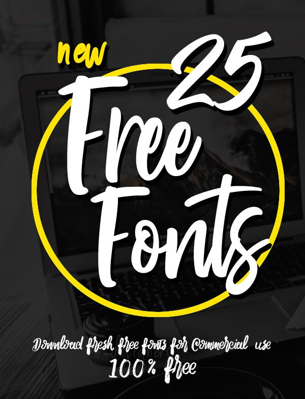 25 Fresh Free Fonts