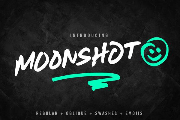 Moonshot Free Font - 50 Best Free Brush Fonts