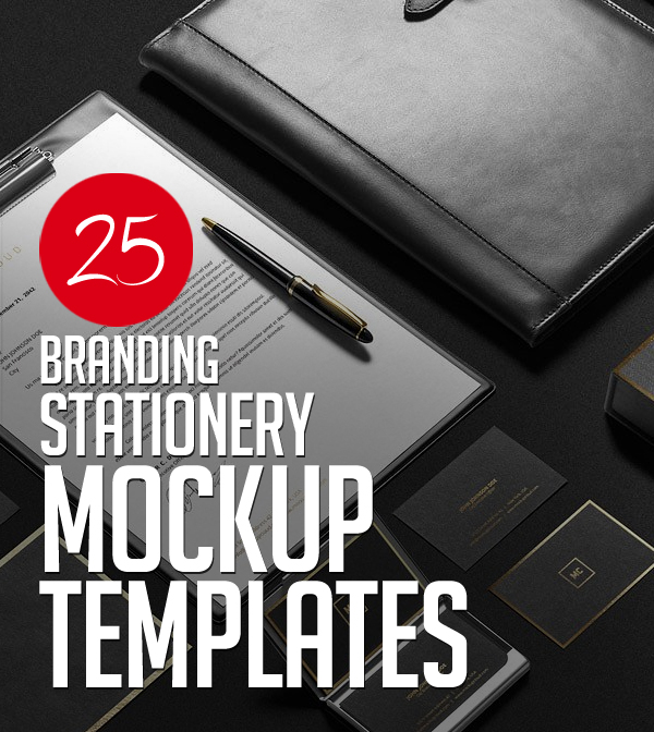 Professional Branding Identity Stationery MockUps – 25 Design