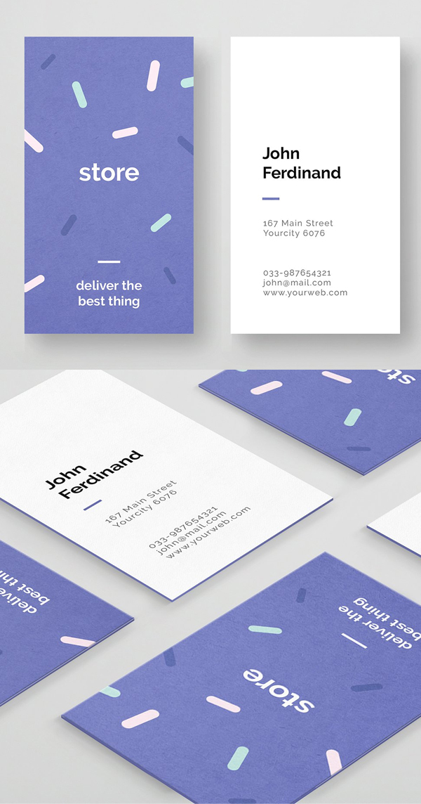 Simple and Unique Corporate Business Card