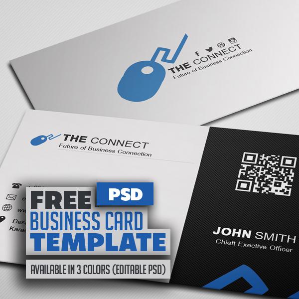 Freebie – Corporate Business Card PSD Template