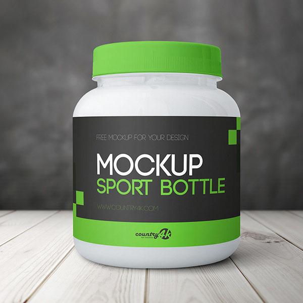 Free Sport Bottle PSD MockUp