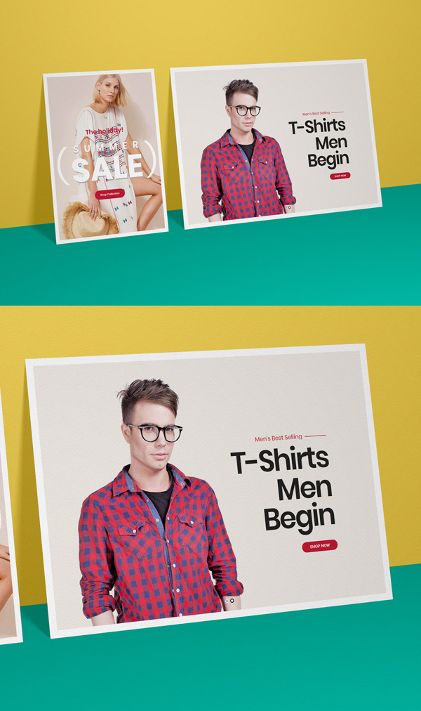 Free Poster Mockups PSD Template