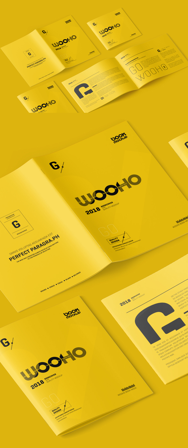 Free Magazine / Brochure Mockup PSD Template