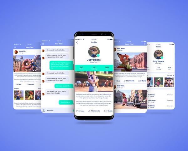 Free Smartphone Multi Screen App Mockup