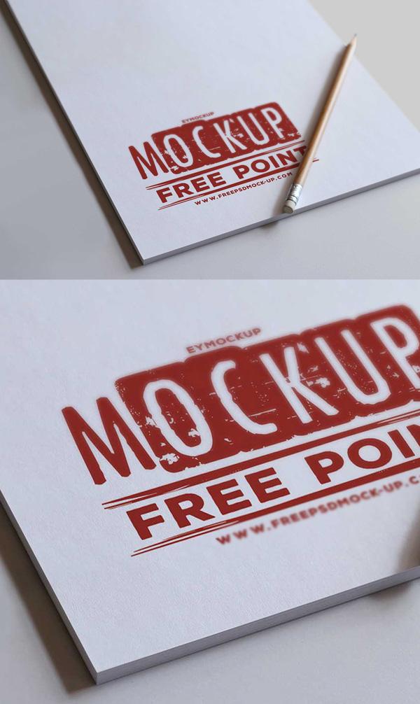 Free PSD Letter Pad Logo Mockup