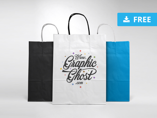Free Paper Bag Mockup PSD Template