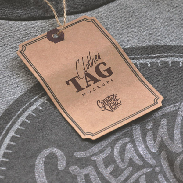 Free Clothes Tag PSD Mockups