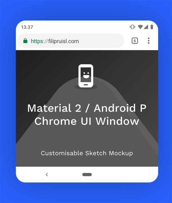 Chrome Material 2 Top + Bottom Sketch Mockup Free PSD