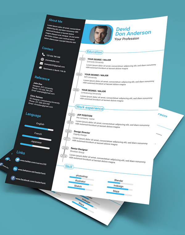 25 Fresh Free Professional Resume Templates - 11