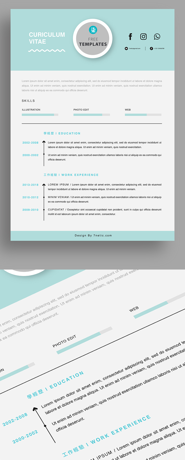 25 Fresh Free Professional Resume Templates - 12