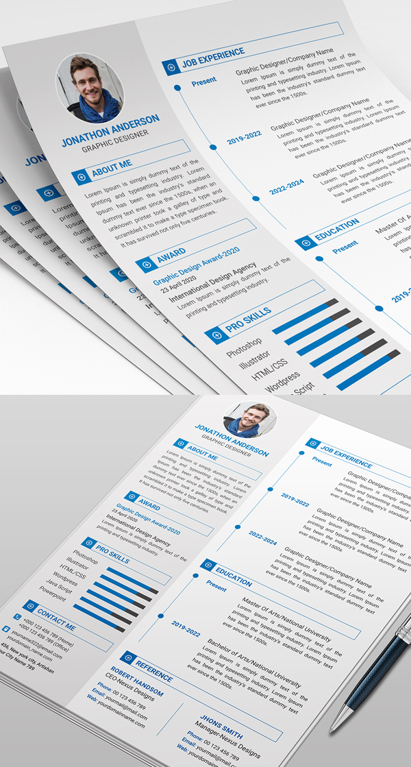 25 Fresh Free Professional Resume Templates - 23