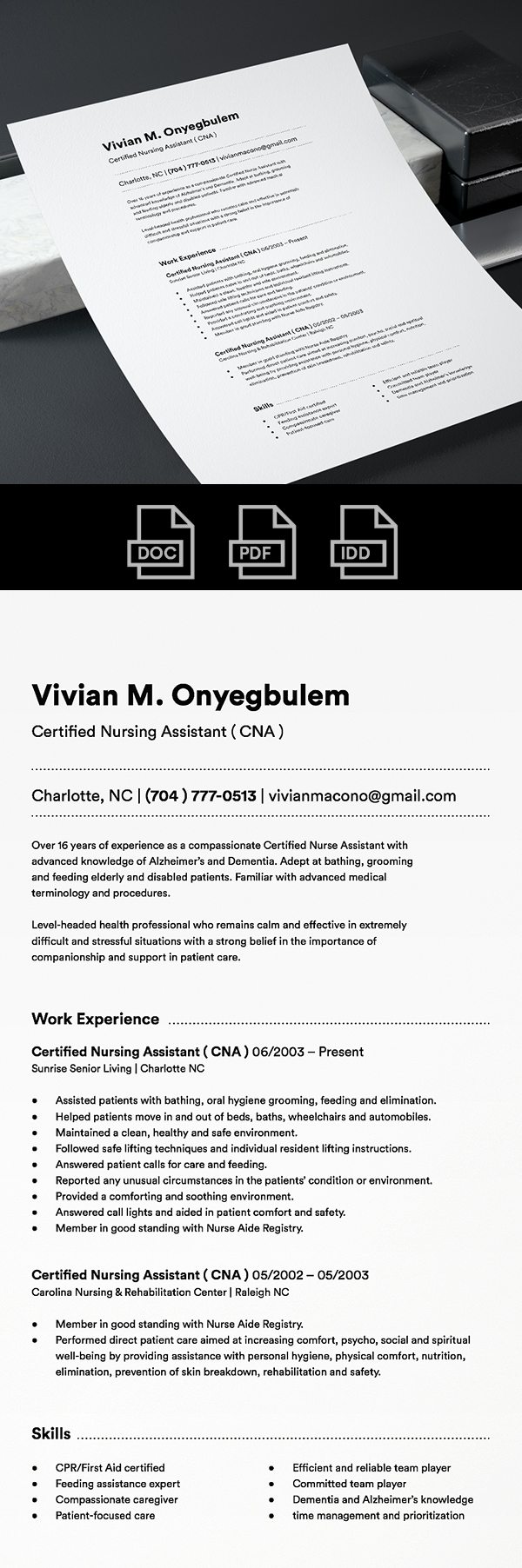 25 Fresh Free Professional Resume Templates - 3
