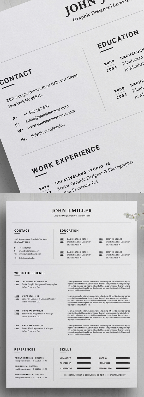 25 Fresh Free Professional Resume Templates - 4