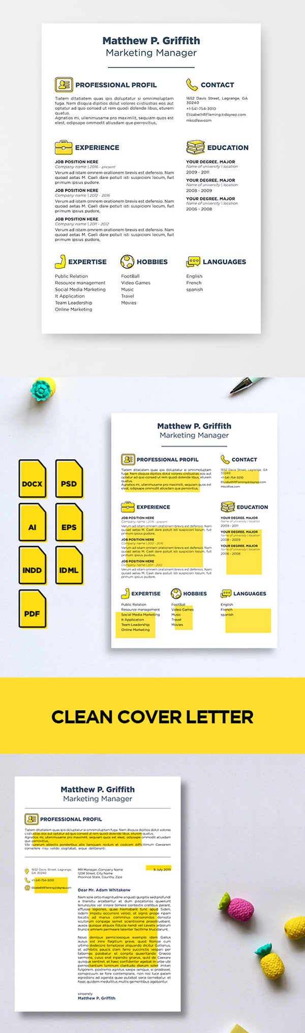 25 Fresh Free Professional Resume Templates - 9